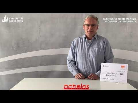 Virtuelle Preisübergabe für beste Masterarbeit an Philipp Schütte