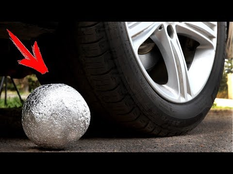 EXPERIMENT: CAR VS ALUMINIUM FOIL BALL