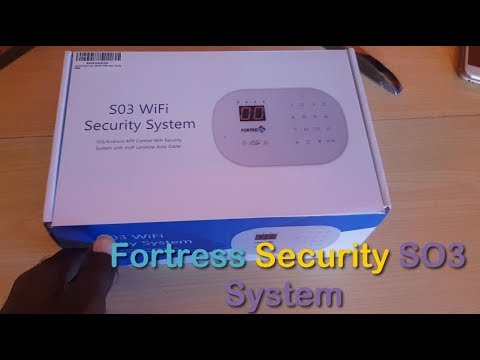 Fortress Security Store S03 WiFi and Landline Security Alarm System Unboxing