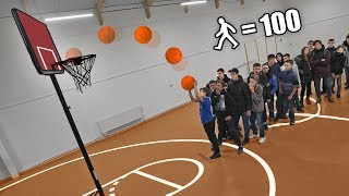 WHO IS THE LAST, GETS $ 1000! BASKETBALL TO LEAVE