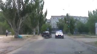 В Волгоградской области после погони и ДТП арестован пьяный угонщик без прав