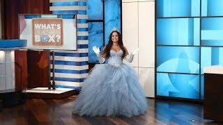 Ellen Plays 'What's in the Box?' with Guest Model Demi Lovato - dooclip.me