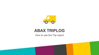How to use the trip report