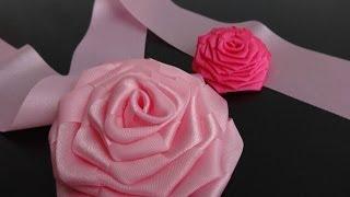 Роза из цельной ленты.Мастер-класс./Ribbon Rose/