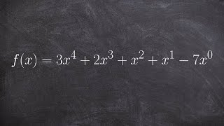 What is the definition of standard form, degree and leading coefficient of a polynomial