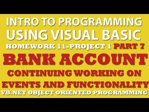 VB.net Programming Challenge 11-1 Part 8: Bank Account (VB.net debugging) - Coding ...