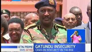 CS Matiang'i, IG Mutyambai tour Gatundu over rise of insecurity