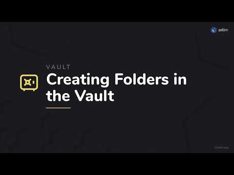 Creating Folders in the Vault