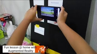 preview picture of video 'Fun english lesson @ home with handphone and augmented reality'