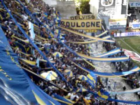 """""""Boca 1 River 1 / Si quieren ver fiesta, vengan a La 12"""" Barra: La 12 • Club: Boca Juniors • País: Argentina"""