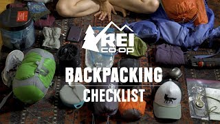 Backpacking Checklist || REI