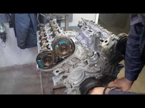 установка цепи ГРМ Mercedes Benz M278