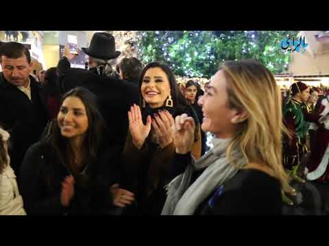 الأميرة ريم علي تضيء شجرة عيد الميلاد في البوليفارد