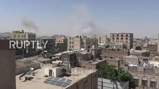 Koalicja pod przywództwem Arabii Saudyjskiej przeprowadza naloty na Sanę po przechwyceniu rzekomych uzbrojonych dronów Huti