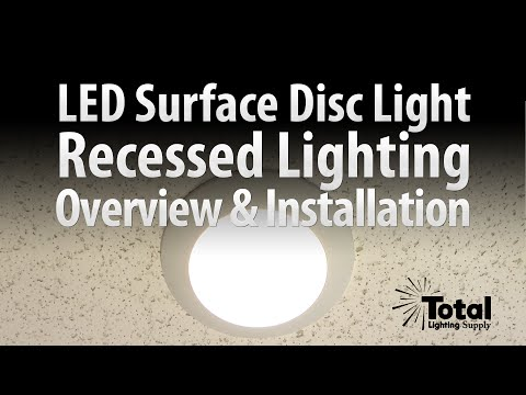 Sylvania LED Disc Light for Recessed Surface Lighting Overview & Install