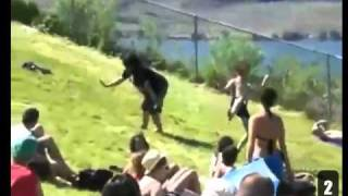 FUNNY GUY MAKES A WHOLE CROWD DANCE