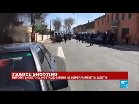 France: Police move in and surround Trèbes' supermarket, unconfirmed reports of hostages freed