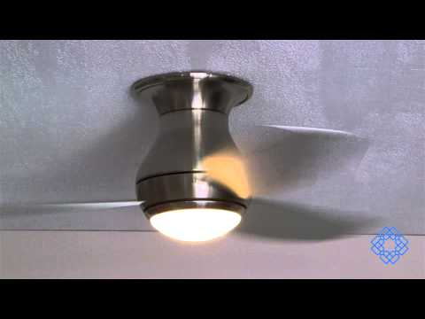Video for Curva Sky Brushed Steel 44-Inch Ceiling Fan with All-Weather Brushed Steel Blades