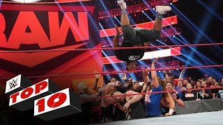 WWE Top 10 takes you back to this week's Monday Night Raw to revisit the show's most thrilling, physical and controversial moments, presented by Tapout. GET YOUR 1st MONTH of WWE NETWORK for FREE: http://wwe.yt/wwenetwork
