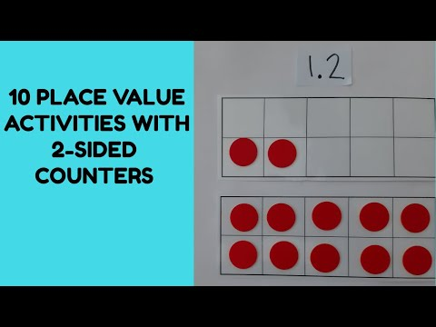 2-SIDED COUNTERS - 10 PLACE VALUE ACTIVITIES