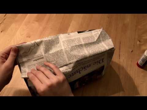 DIY: Tüte aus Zeitungspapier