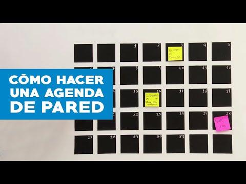 ¿Cómo hacer una agenda de pared?
