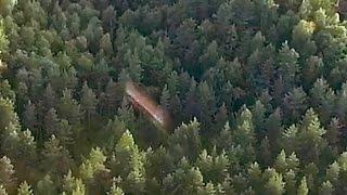 UFO filmed by drone. НЛО с дрона.