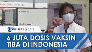 Enam Juta Dosis Bahan Vaksin Covid-19 Sinovac Tahap 8 Sampai di Indonesia Hari Ini
