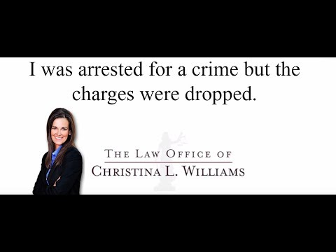 I was arrested for a crim…