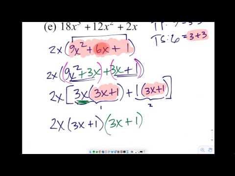 Precal 1.2 Ex 01a-01i - YouTube