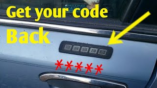 Recover your lock code