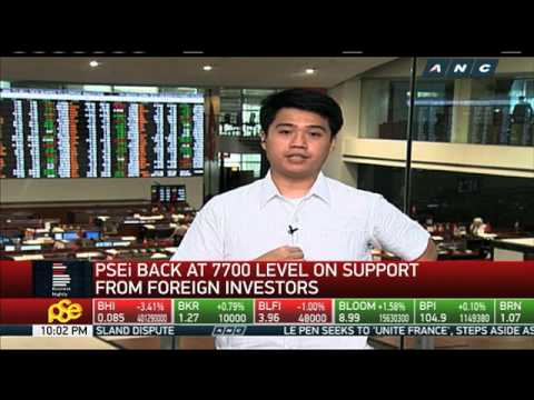 PH shares back at 7700 level amid support from foreign investments