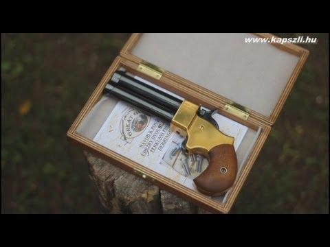 Shooting a double barrel Great Gun percussion derringer