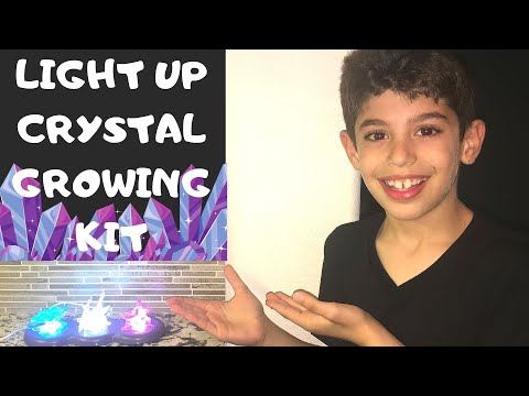 Light Up Crystal Growing Kit | Product Review | Cool Kids Science Experiment