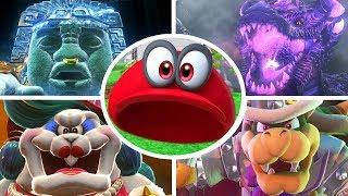Super Mario Odyssey - Cappy vs All Bosses (Invisible Hat)