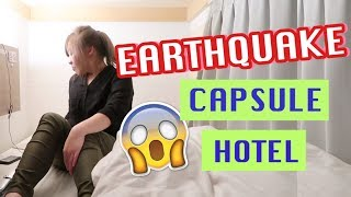 EARTHQUAKE At A Capsule Hotel In Japan