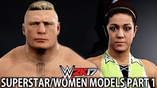 WWE 2K17: All WWE Superstar Models in Superstar Studio (Managers/Alternate Versions/Attires)