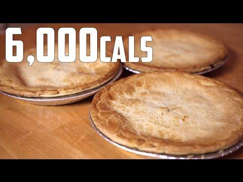 6lb Chicken Pot Pie Eating Challenge (6,000+ Calories)