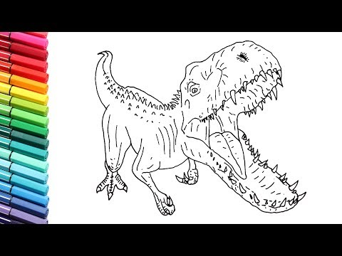How to Draw Indominus Rex Dinosaur From Jurassic World ...