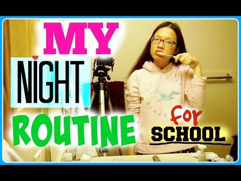 My Night Routine For School 2016 | Thói quen buổi tối của mình trong năm học