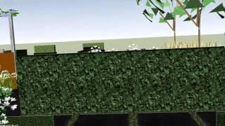 kijk nu naar onze nieuwste tuin gefilmd met een DRONE!