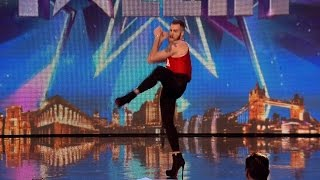 Britain's Got Talent 2015 S09E06 Luca Calo Strange Song & Dance Performance