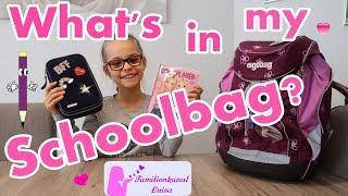 What's in my Schoolbag - Was ist in meinem Schulranzen?