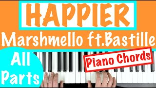 happier marshmello piano cover with lyrics - TH-Clip