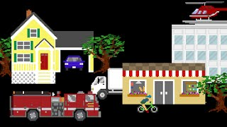 Vehicle Prepositions - Featuring Street Vehicles / City Vehicles - The Kids Picture Show