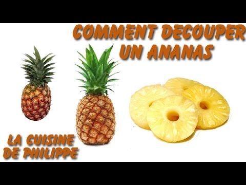 découper un ananas en rondelles