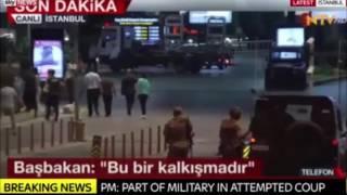 Захват власти в стране   Переворот в Турции   Танки открыли огонь возле здания турецкого парламента