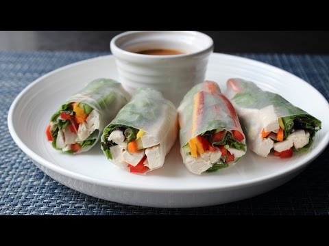 Spring Rolls – How to Make Fresh Spring Rolls – Rice Paper Wraps