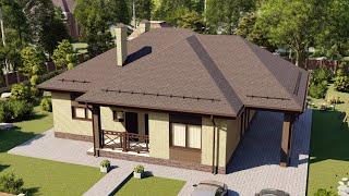 Проект дома 127-B, Площадь дома: 127 м2, Размер дома:  12,5x13,6 м