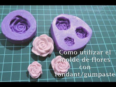 Como sacar las flores de los moldes de silicona